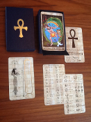 Rosetta Tarot PAPYRUS edition full size with hieroglyphic guide