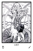 Tabula Mundi Tarot - extra large Majors in black & white